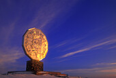 Winter skies and evening light on the Big Nickel. Sudbury. Ontario. Canada.
