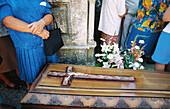 Procession of the coffins. Santa Marta de Ribarteme. Pontevedra province. Galicia. Spain