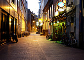 Alleyway in Central Amsterdam, Netherlands