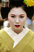 Woman in traditional dress. Kyoto. Japan