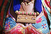 Typical Rajasthani jewellery worn by married women from the Bhisnoi tribe. Rajasthan, India.