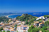 Begur and Medes islands in background. Girona province. Spain