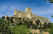 Medieval castle. Almansa. Castilla la Mancha. Albacete. Spain.
