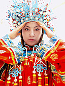 Woman in traditional outfit. Beijing. China