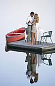 Romance on the dock