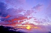Dawn at la Axarquia . Malaga Province. Andalucia. Spain