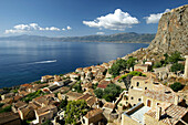 Monenvassia medieval town, Laconia, Peloponnese, Greece