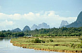Karst rock formations. South Thailand
