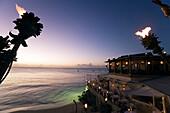 Restaurant The Cliff in the evening, Derricks, Barbardos, Caribbean