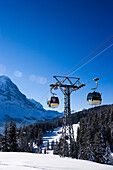 Gondola cable car passing, First, Grindelwald, Bernese Oberland, Canton of Bern, Switzerland