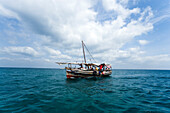Dhow on Indian Ocean,  Snorkeling and Diving Trip, Kisite-Mpunguti Marine National Park, Coast, Kenya