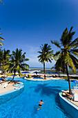 Swimming pool area of the Hotel Bamburi Beach, Bamburi Beach, Coast, Kenya