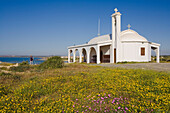 Agia Thekla, orthodox church along the coast near Agia Napa, South Cyprus, Cyprus