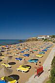 Two women with air matress, Acapulco Beach, Acapulco Beach Club and Resort Hotel, 10km east of Kyrenia, Girne, Kyrenia, North Cyprus, Cyprus