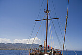 Neptun Pirate boat trip, by Kaleidoskop Turizm, and coast, Kyrenia, Girne, Cyprus