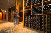 Pambos Argyrides, managing director, in the wine cellar, Vasa Winery, Vasa Kilaniou village, Troodos mountains, Cyprus