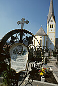 Grave of the legendary poacher Georg Jennerwein in Schliersee, Lake Schliersee, Upper Bavaria, Bavaria, Germany