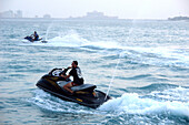 Man on a jet ski, Abu Dhabi, United Arab Emirates, UAE