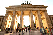 Visitors at the Brandenburg Gate, Berlin, Germany