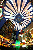 Chistmas decoration, Sony Center, Berlin, Germany