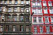 Redecorated and run-down period buildings, Berlin, Germany