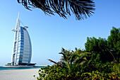 Beach in front of Burj al Arab Hotel, Dubai, United Arab Emirates, UAE