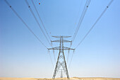 High voltage power supply lines, Energy, Dubai, United Arab Emirates, UAE