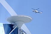 Helicopter landing on the top of Burj al Arab, Dubai, United Arab Emirates, UAE