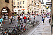 Pedestrian area in Old Town, Leipzig, Saxony, Germany