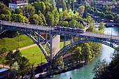 Aare mit Kirchenfeldbrücke, Altstadt, Bern, Schweiz