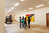 A group of young girls in an Art Museum, Kunstmuseum Basel, Basel, Switzerland