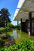 Modern architechture of Fondation Beyeler, Basel, Switzerland