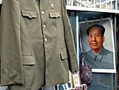 Mao Zedong s uniform at Panjiayuan folk culture market. Beijing. China