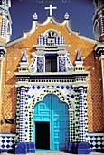 Church of Tetela in Libres. Puebla. Mexico