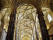 Vault ribs, Monastery of the Hieronymites. Lisbon, Portugal