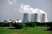 Nuclear power station. Temelin. South Bohemia, Czech Republic