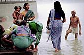 Ablutions in Ganges river. Rishikesh. Uttar Pradesh. India.
