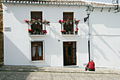 Façade with balconies, Antequera. Málaga province, Andalusia. Spain