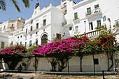Façade and town hall from Plaza de España. Vejer de la Frontera. Cádiz province. Andalucía. Spain.