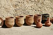 Pottery vessels. Asilah. Morocco.