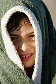 Boy with towel