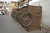 Carts stored away. Suzhou. China