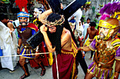 Christ on the road to Calvary. Moriones Festival. Easter Sunday. Marinduque Island. Philippines.