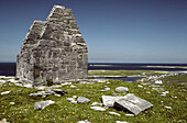 Remains of Ceathar Alainn temple in Inishmore, one of the Aran Islands, Co. Galway. Ireland