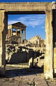 Roman capitol ruins. Dougga. Tunisia