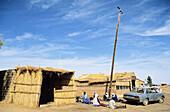 African Hotel at Wadi el Agial region. Fezzan. Sahara desert. Libya. Africa.