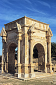The arch of L. Septimius Severus probably dates from the Emperor s visit to his native city in 203 AD. Leptis Magna. Libya. Africa.