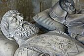 Recumbent effiges of René de Beauvau and Claude Baudoche by Ligier Richier, Cordeliers Church, Dukes of Lorraine vault, The Duke s Palace, Old Town, City of Nancy, Lorraine, France