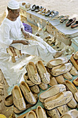 Street cobbler. Karima northern sudanese market town. Sudan. Africa