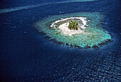A motu (islet). air sight. Tahiti Island. the Society Islands. French Polynesia. Pacific.